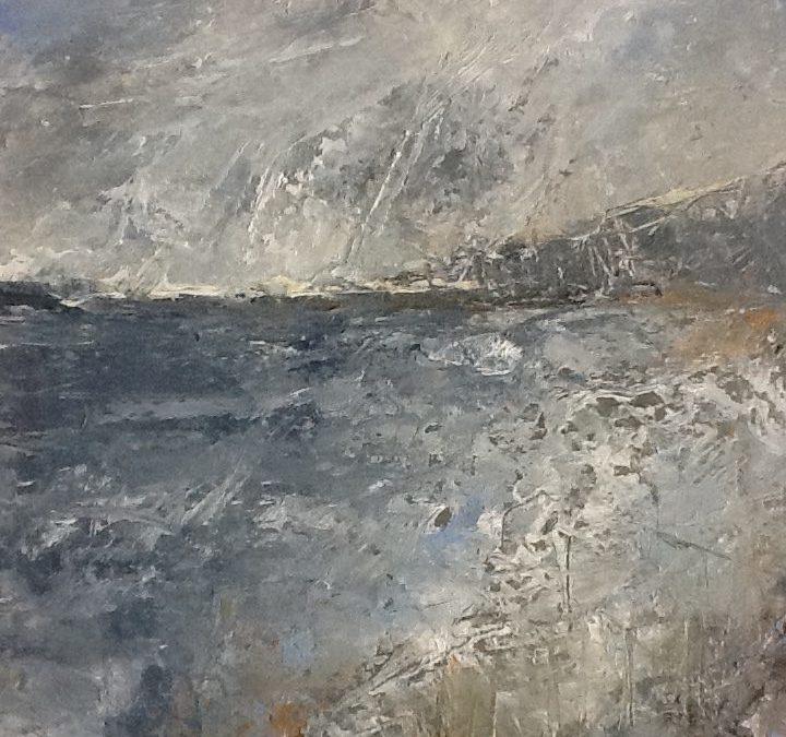 Jurassic 1 - oil on paper
